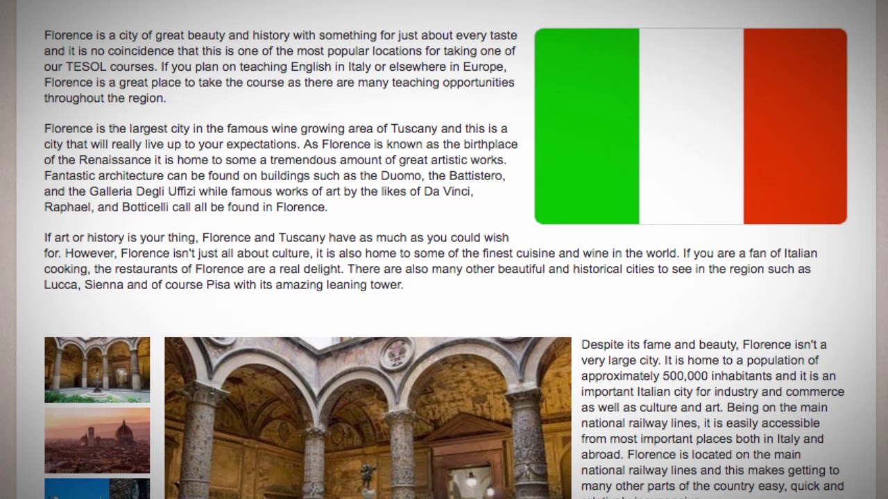 TESOL Course in Florence, Italy | Teach & Live abroad!
