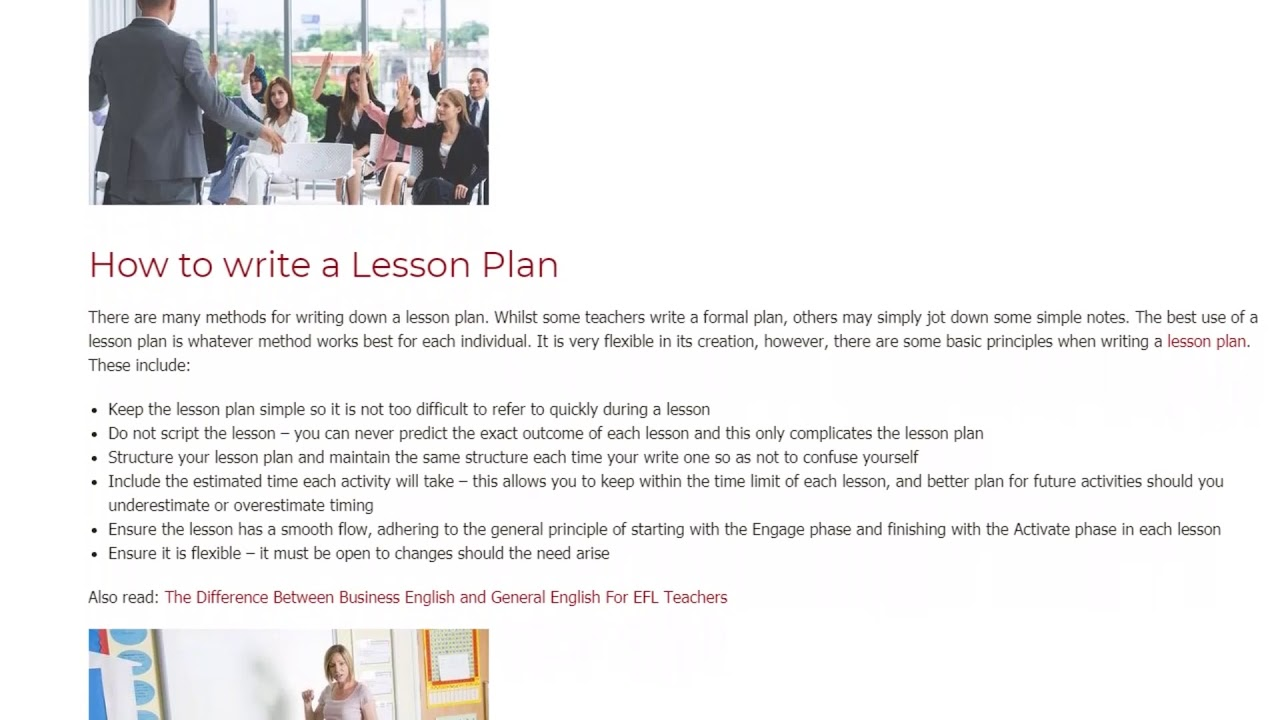 How to Use Lesson Planning to Its Fullest Potential | ITTT TEFL BLOG