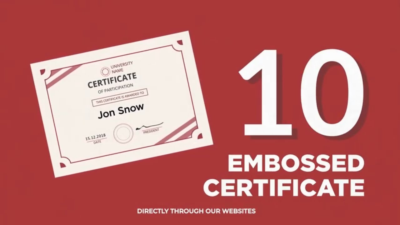 Why choose TEFL Certification with ITTT: Embossed Certificate