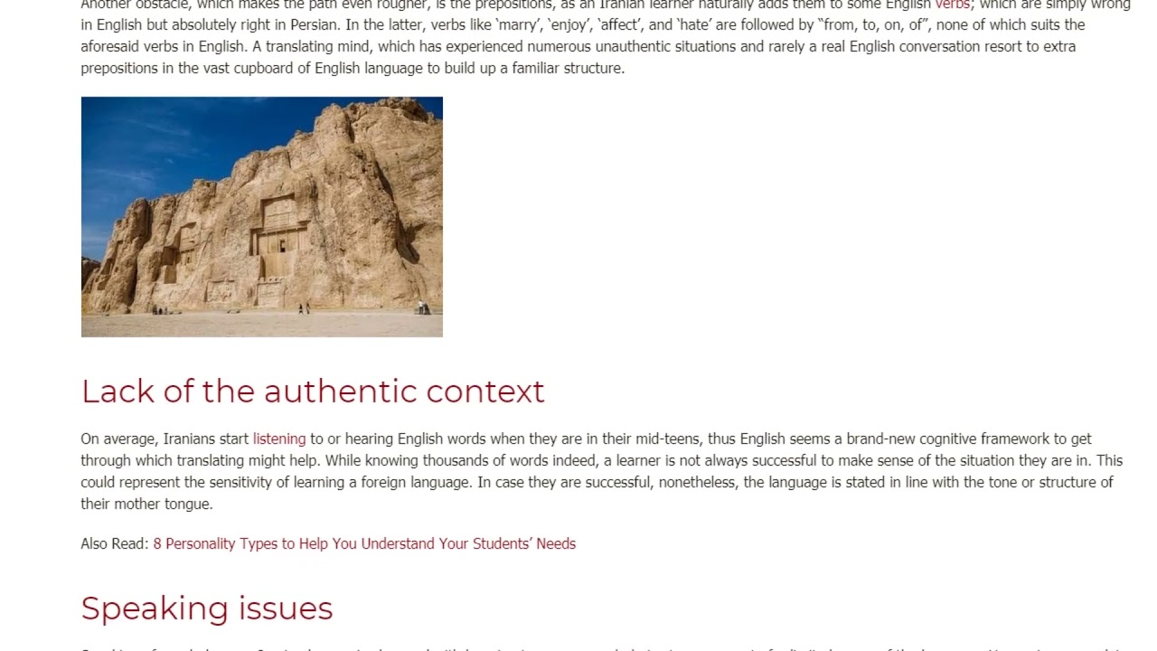 Several Problems ESL Students From Iran Face | ITTT TEFL BLOG