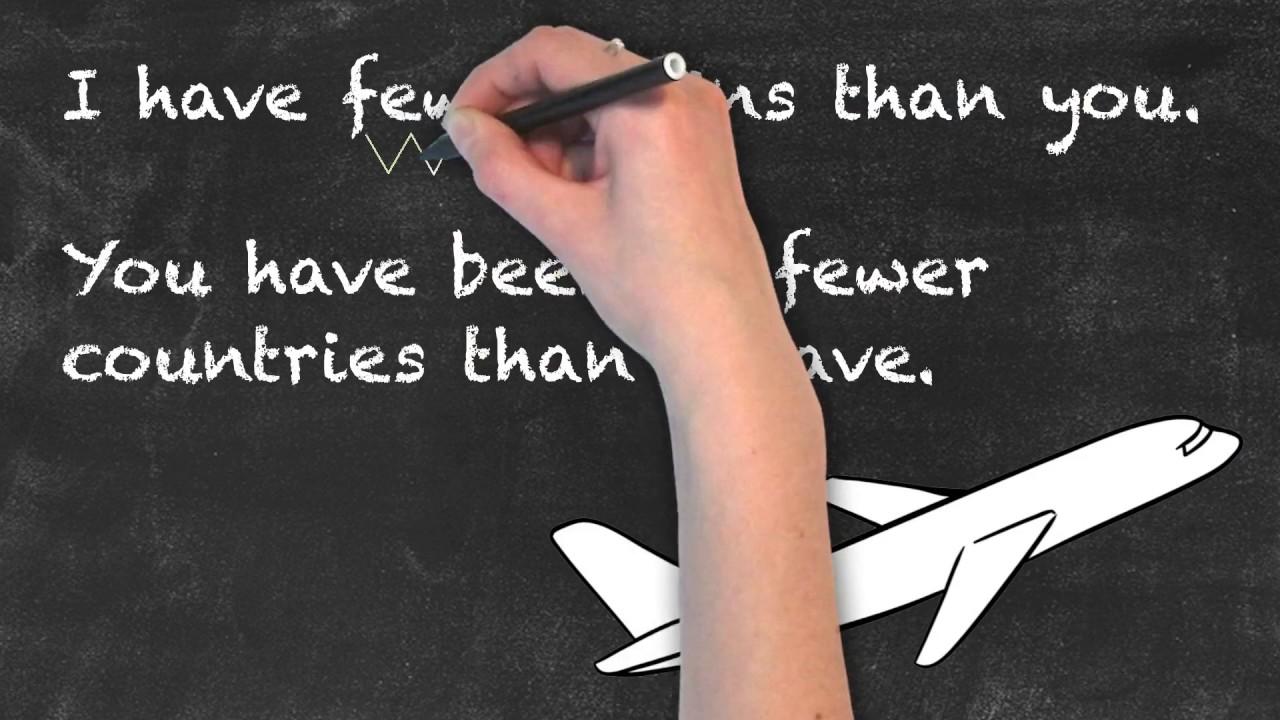 LESS vs FEWER | English Grammar | Ask Linda!