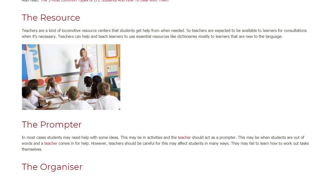 10 Important Roles of a Good Teacher   ITTT TEFL BLOG