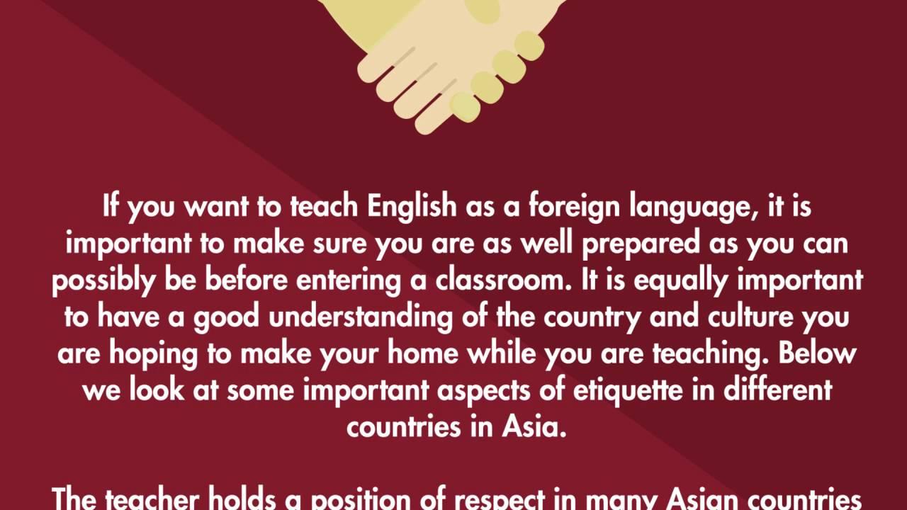 Etiquette Asia