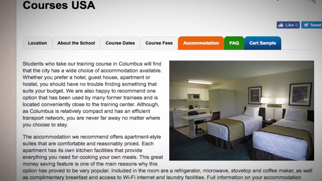 TEFL / TESOL School Accommodation in Columbus, USA | Teach & Live abroad!