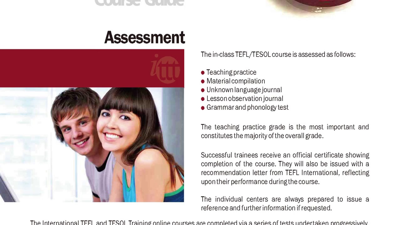 International TEFL and TESOL Training (ITTT) | In-class TEFL Course Assessment
