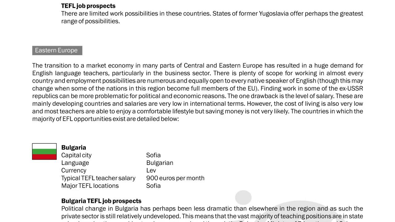 TEFL/TESOL Guide – Bulgaria & Rest of EU | International TEFL and TESOL Training (ITTT)