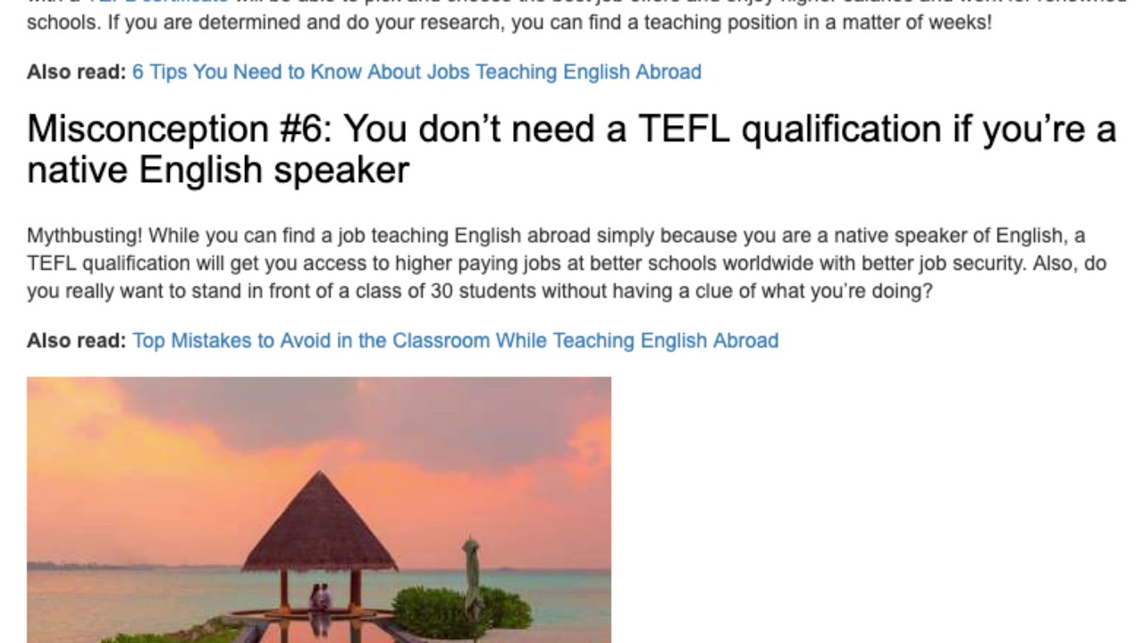 7 Misconceptions about TEFL Uncovered | ITTT TEFL BLOG