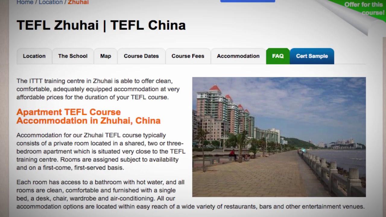 TEFL / TESOL School Accommodation in Zhuhai, China   Teach & Live abroad!