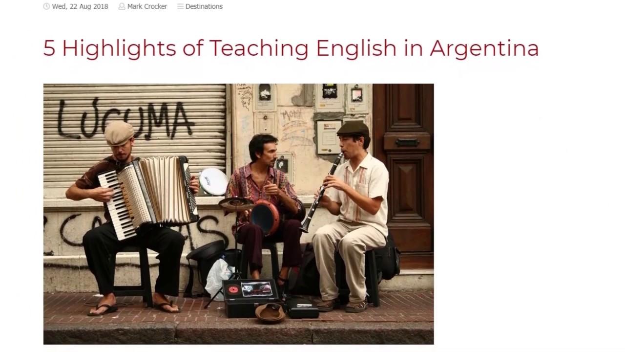 5 Highlights of Teaching English in Argentina   ITTT TEFL BLOG