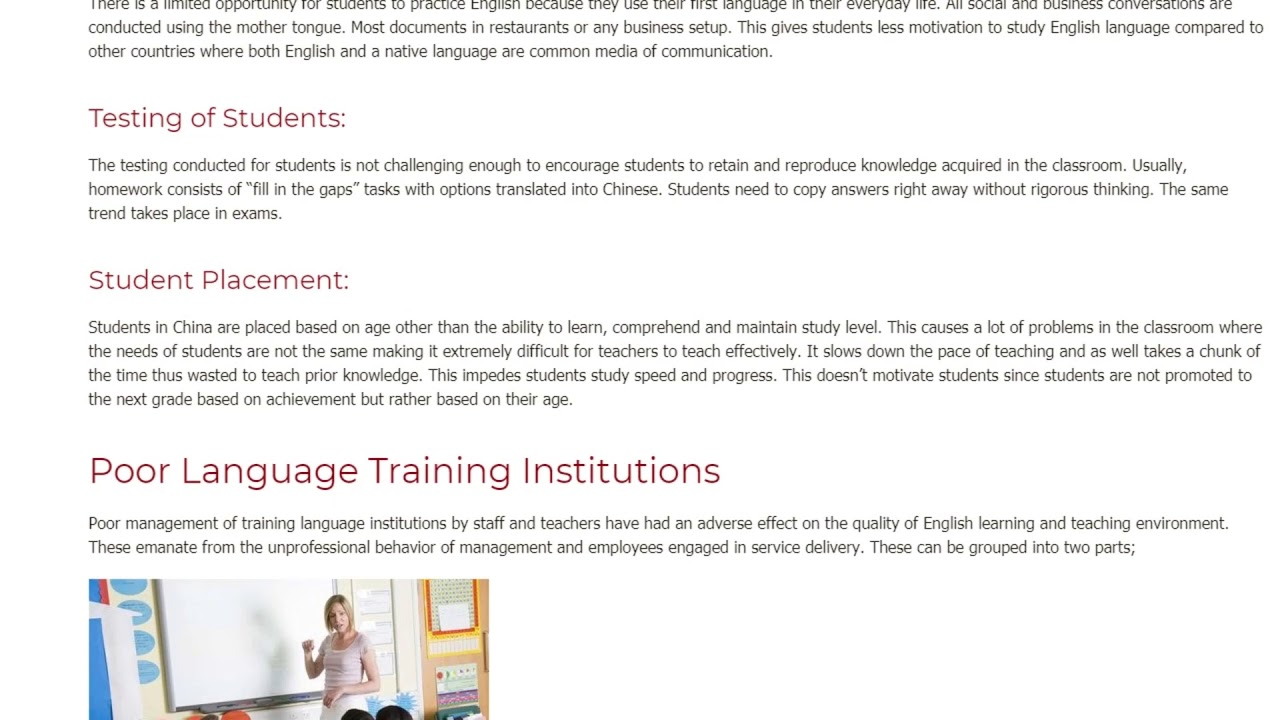 4 Main Challenges for ESL Students in China   ITTT TEFL BLOG