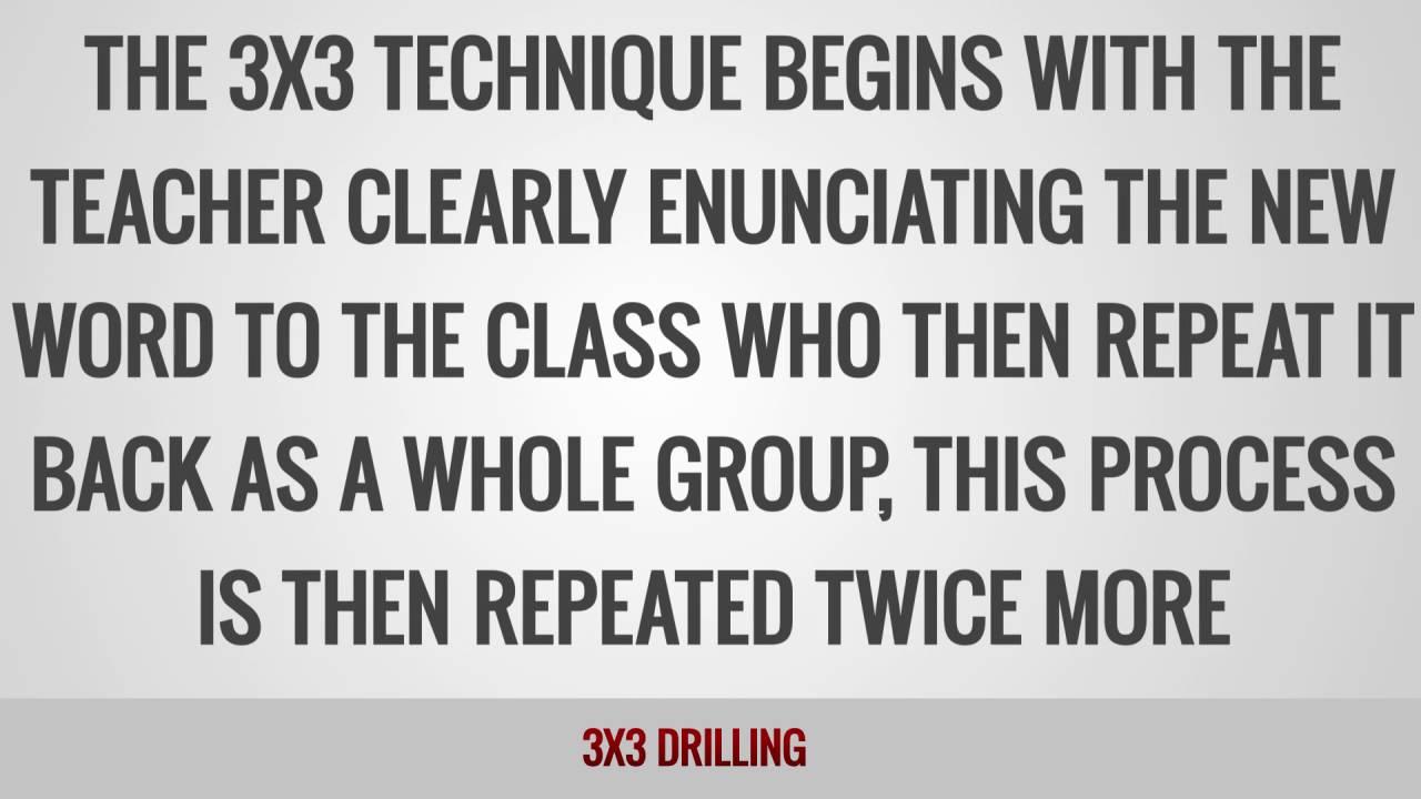 ITTT Glossary – 3×3 Drilling