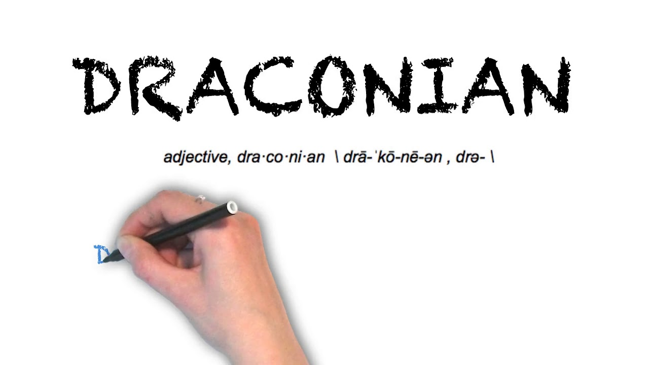How To Pronounce 'DRACONIAN' | Ask Linda! | Pronunciation