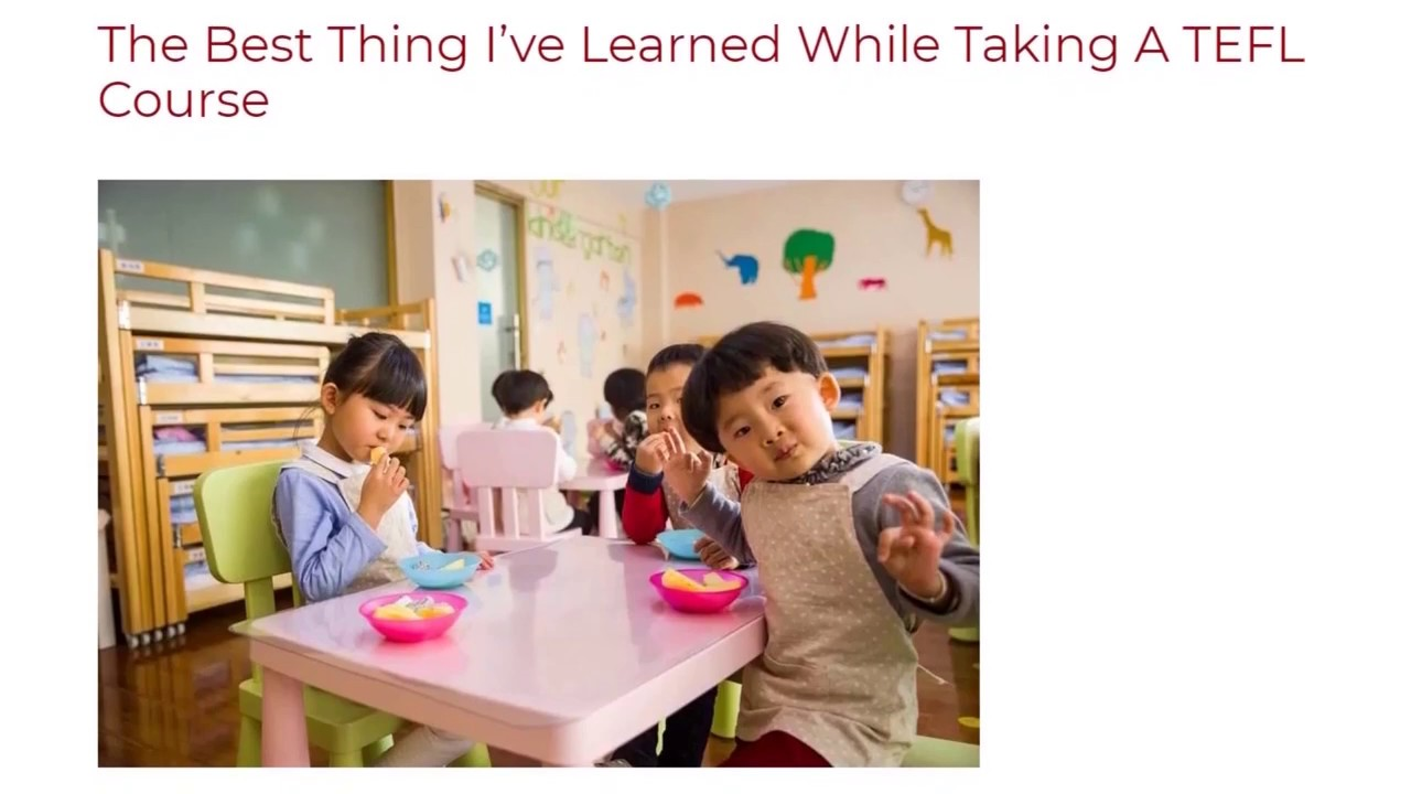 The Best Thing I've Learned While Taking A TEFL Course | ITTT TEFL BLOG