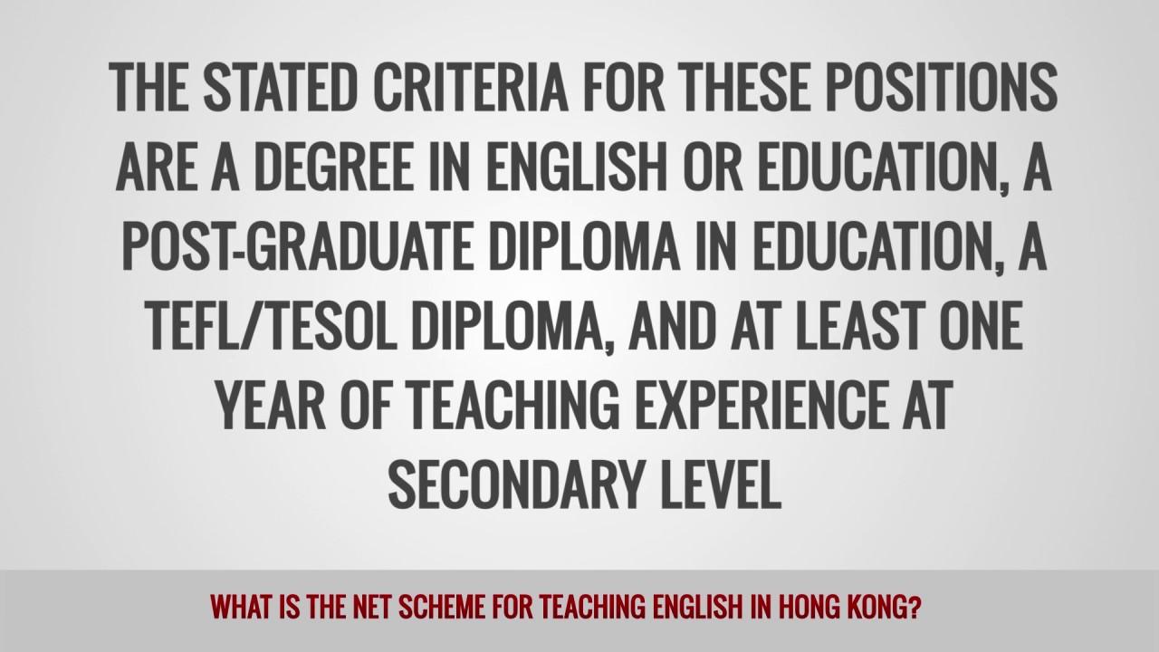 ITTT FAQs – What is the NET Scheme for teaching English in Hong Kong?