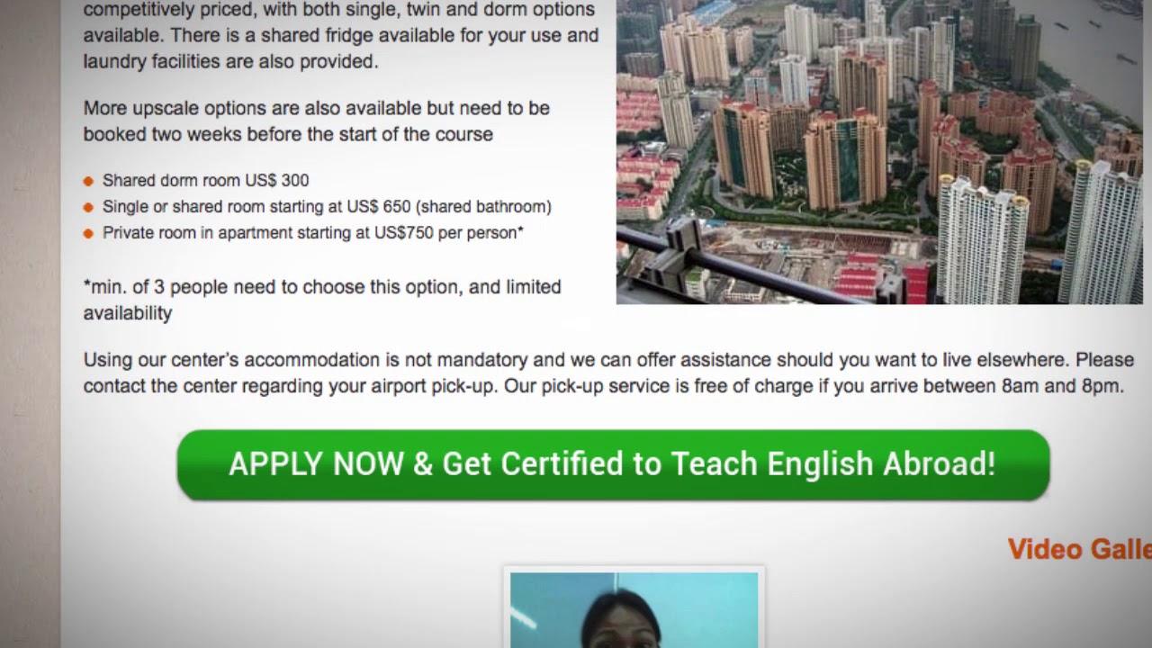 TEFL / TESOL School Accommodation in Shanghai, China   Teach & Live abroad!