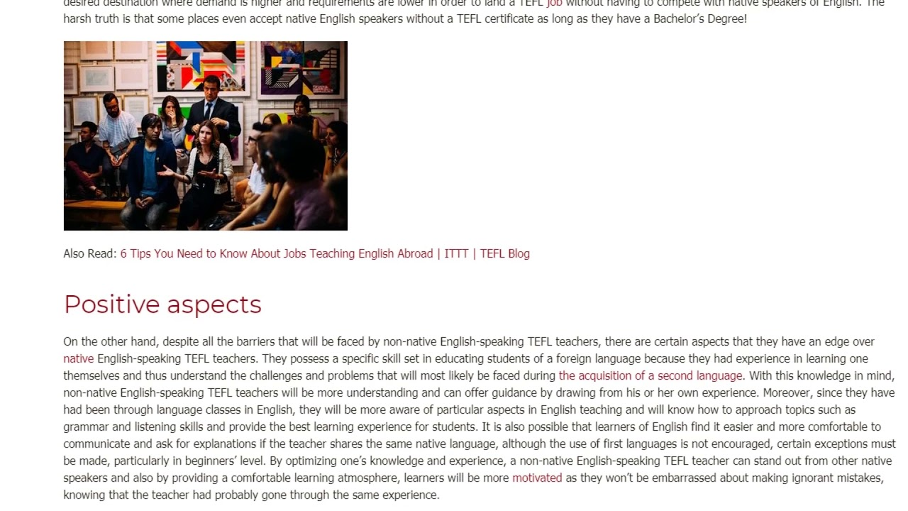 Does a Non-Native English Speaking Teacher Give in on the Point of Teaching   ITTT TEFL BLOG