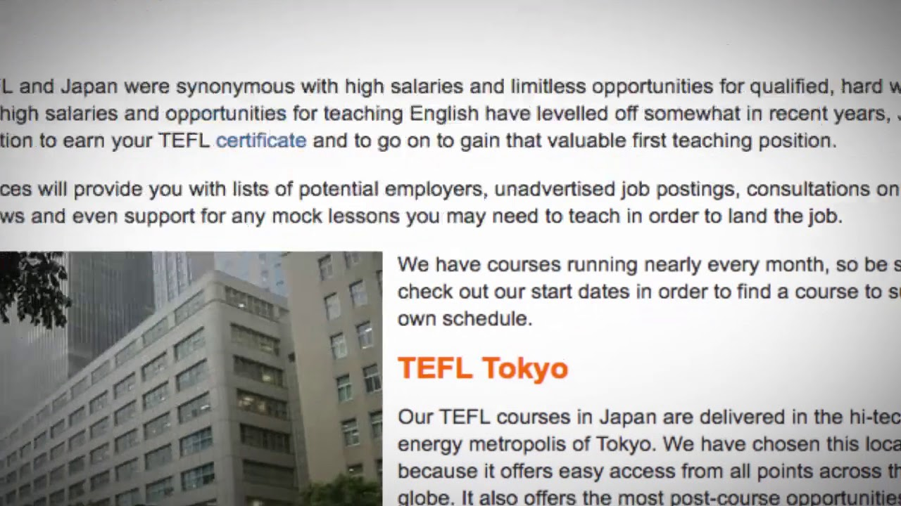 TEFL / TESOL Course in Japan   Teach & Live abroad!