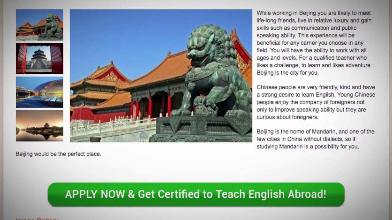 TESOL Course in Beijing, China | Teach & Live abroad!