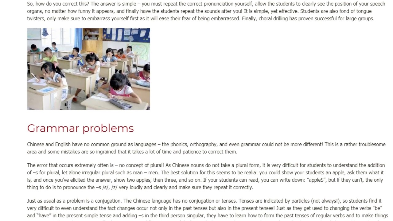 What Problems Do English Learners Face in China | ITTT TEFL BLOG