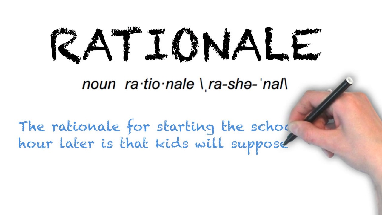 Ask Linda How To Pronounce Rationale