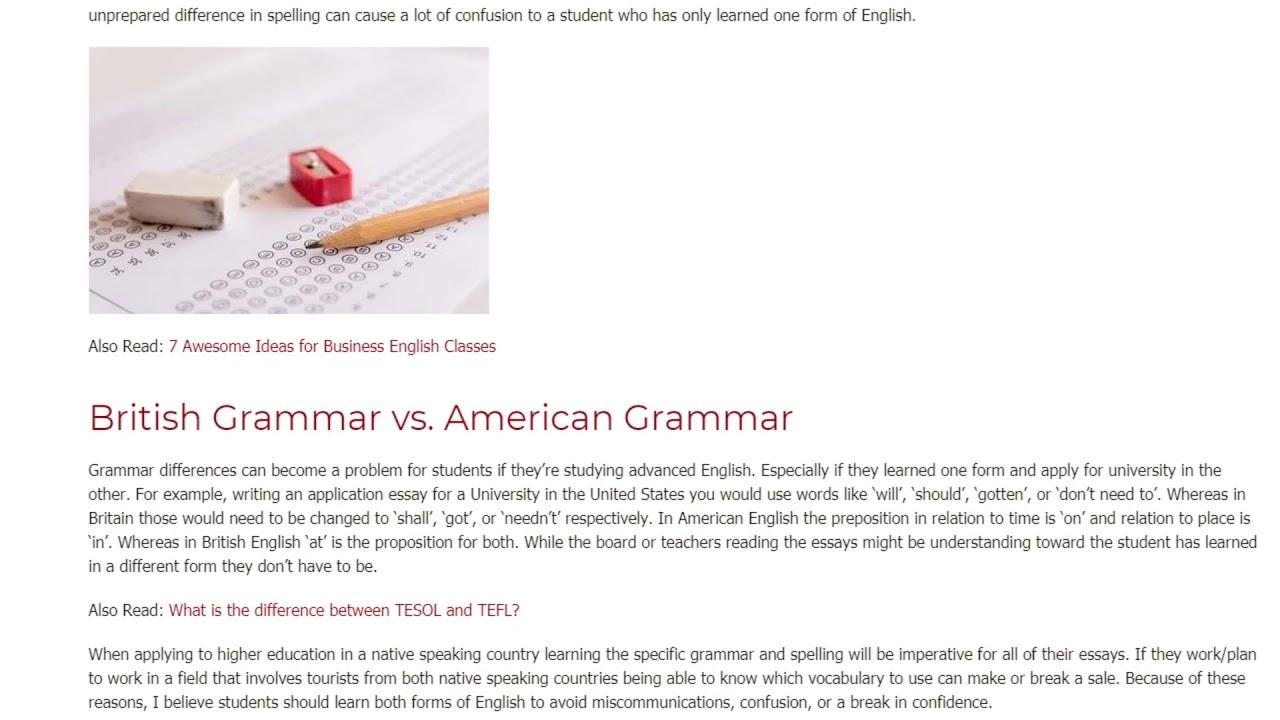 American English vs. British English Do Students Need Both | ITTT TEFL BLOG