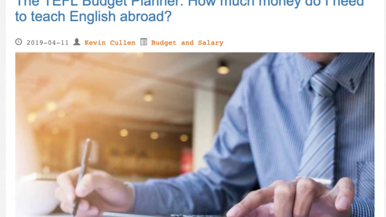 The TEFL Budget Planner: How much money do I need to teach English abroad? | ITTT TEFL BLOG