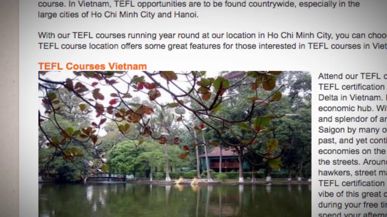 TESOL Course in Vietnam | Teach & Live abroad!