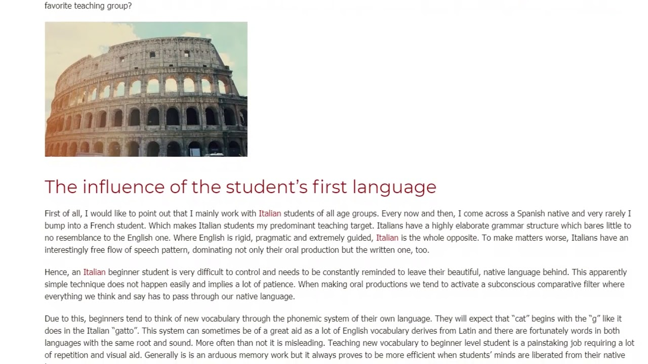 Awesome Insights into Teaching Italian Beginner Students | ITTT TEFL BLOG