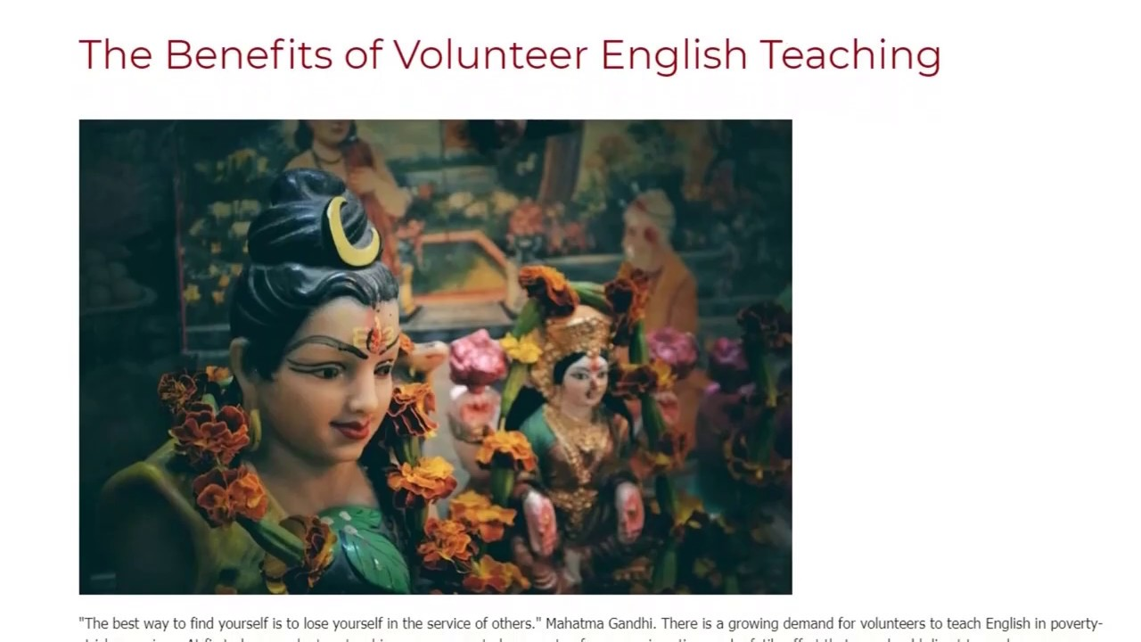 The Benefits of Volunteer English Teaching | ITTT TEFL BLOG