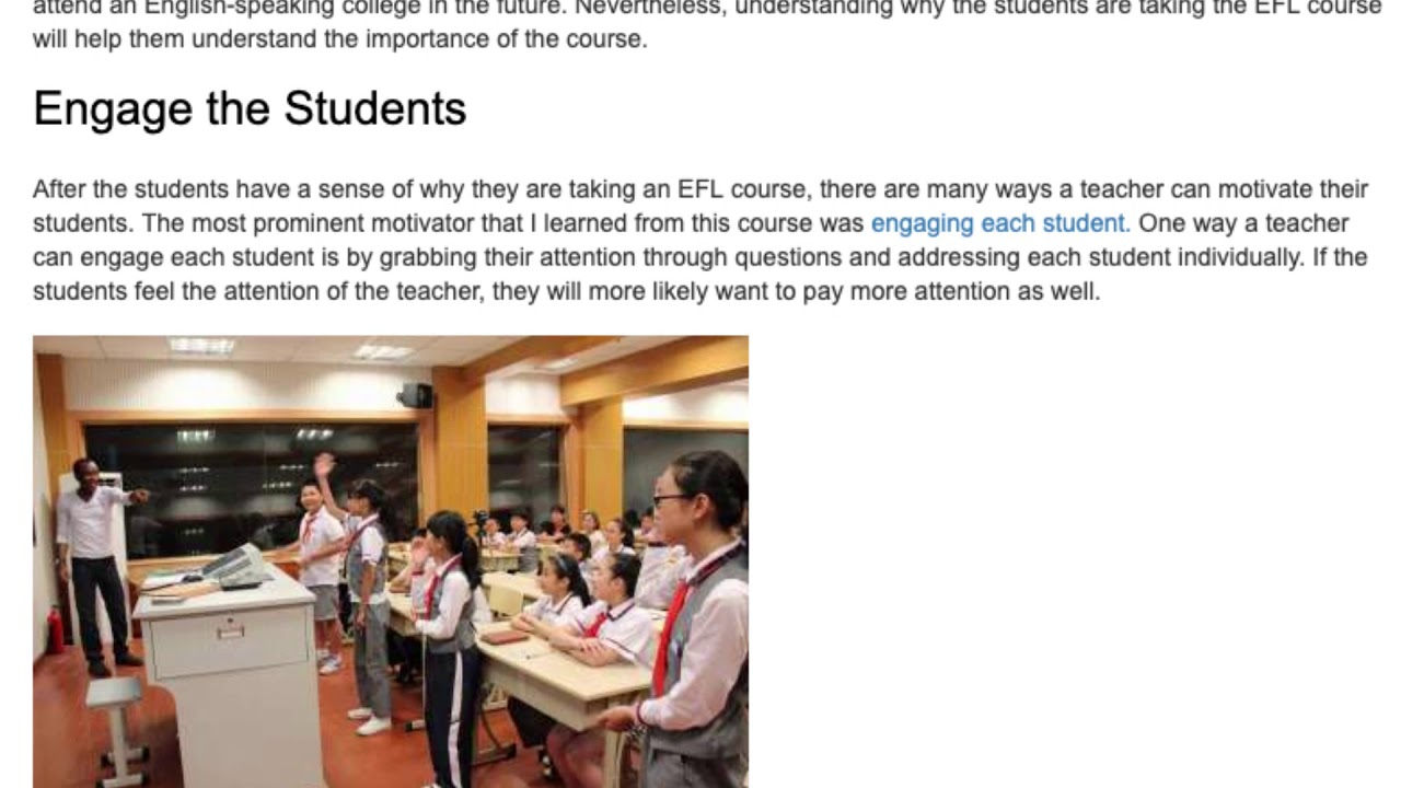 5 Simple Ways How to Motivate Students in the EFL Classroom   ITTT TEFL BLOG