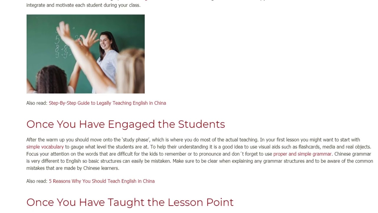 How To Apply TEFL Course knowledge During Your First Lesson In China | ITTT TEFL BLOG
