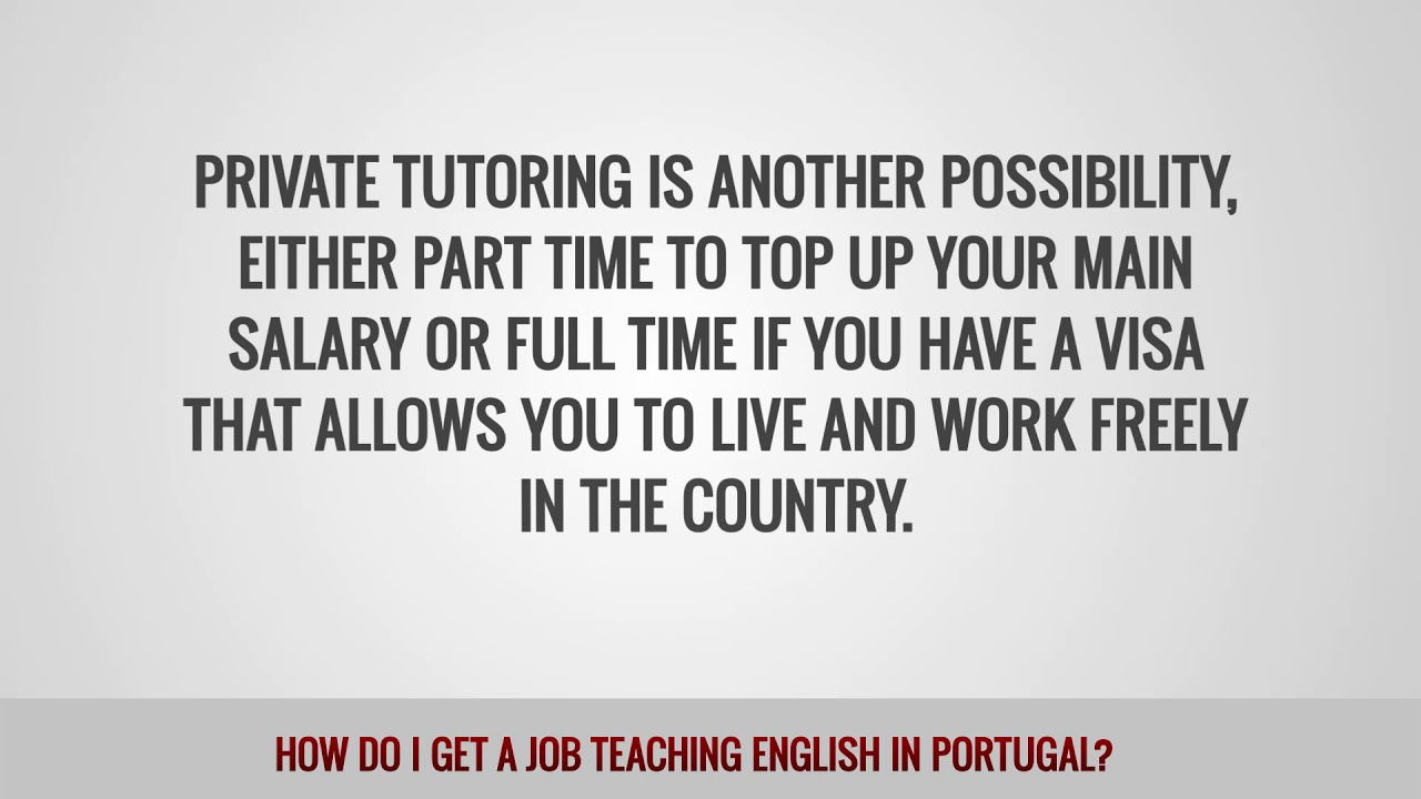 ITTT FAQs – How do I get a job teaching English in Portugal