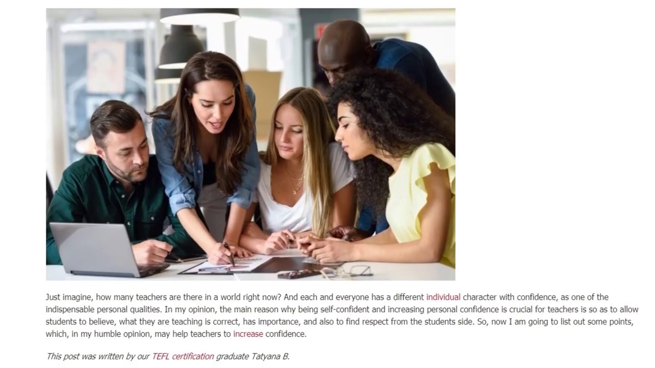 Teacher's Confidence in Different Types of Classrooms   ITTT TEFL BLOG