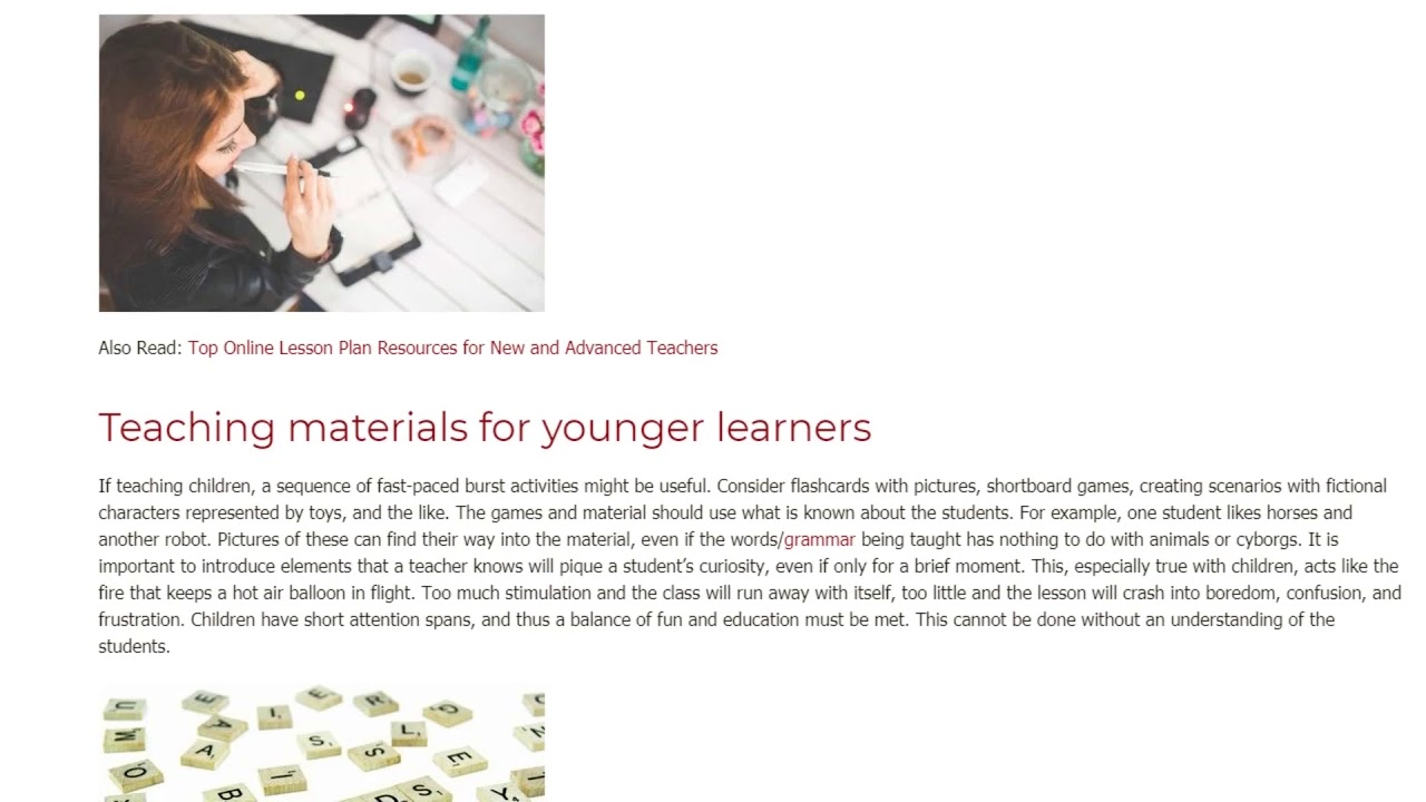 What Should One Think About When Creating Teaching Material | ITTT TEFL BLOG