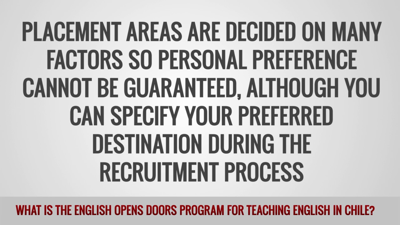 ITTT FAQs – What is the English Opens Doors Program for teaching English in Chile?