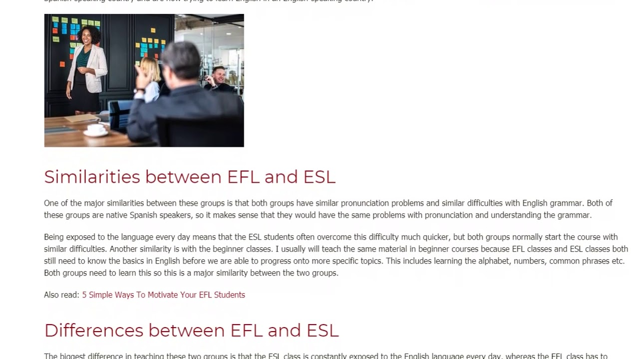 The Difference In Teaching ESL vs. EFL | ITTT TEFL BLOG