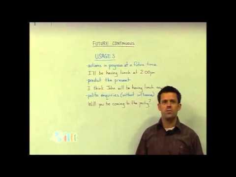 English Grammar – Future continuous – Structure – Teach English TESOL