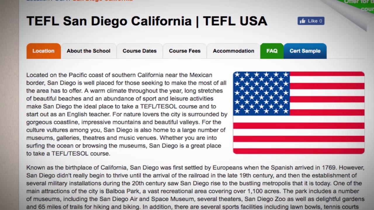 TEFL / TESOL Course in San Diego, USA | Teach & Live abroad!