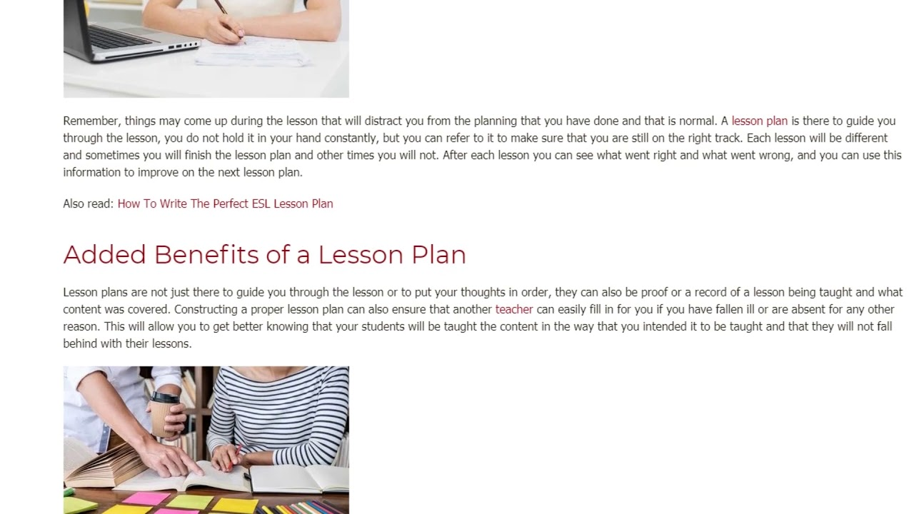 Lesson Planning What is it and Why is it Necessary | ITTT TEFL BLOG