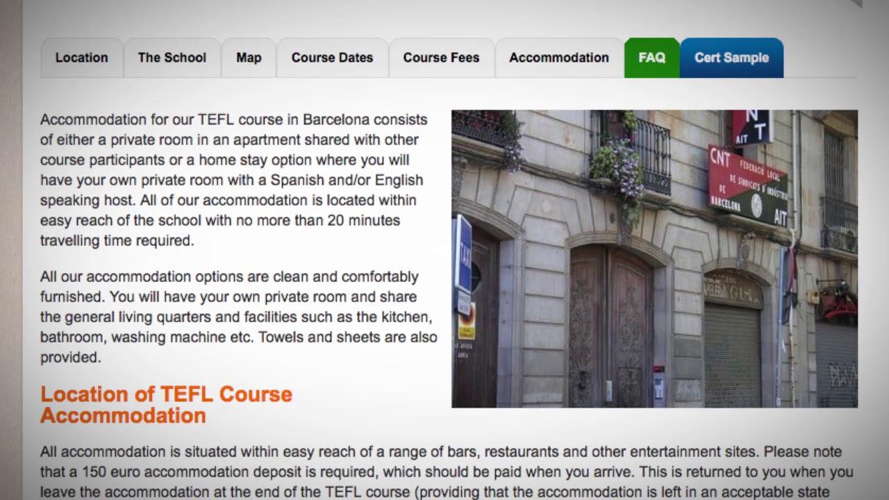 TEFL / TESOL School Accommodation in Barcelona, Spain | Teach & Live abroad!